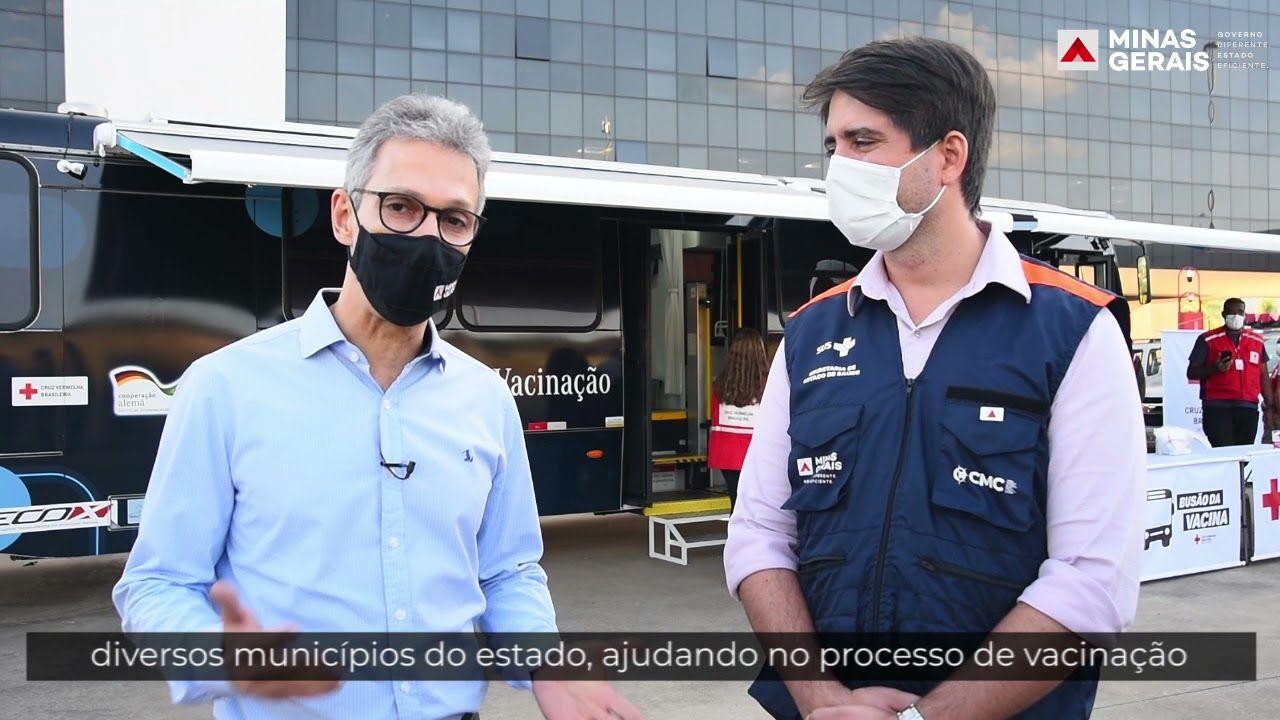 ´Busão da Vacina´ da Cruz Vermelha reforça estratégia de imunização em Minas