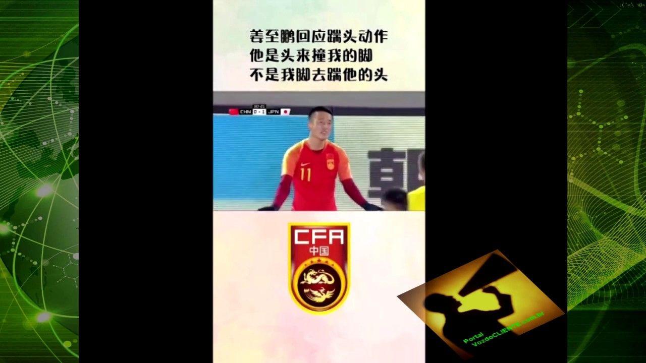 ´Ele que BATEU a cabeça no meu pé!´ - Diz jogador chinês após dar VOADORA em Japonês!