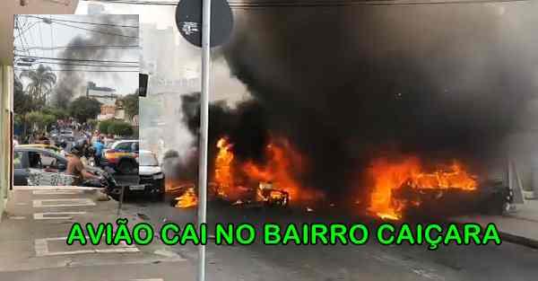 Avião cai sobre carros no Bairro Caiçara em BH com 4 ocupantes!