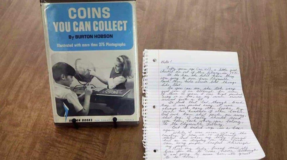 50 anos de atraso! Livro é devolvido a Biblioteca depois de 5 décadas com $20 para ´pagar atraso´ - EUA, Coins You Can Collect,  Plymouth Public Library