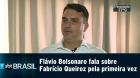 Flávio Bolsonaro fala sobre Fabrício Queiroz pela primeira vez