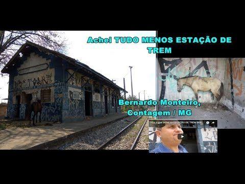 A decadência e o abandono da ESTAÇÃO DE TREM BERNARDO MONTEIRO, fundada em 1910 - Contagem/MG