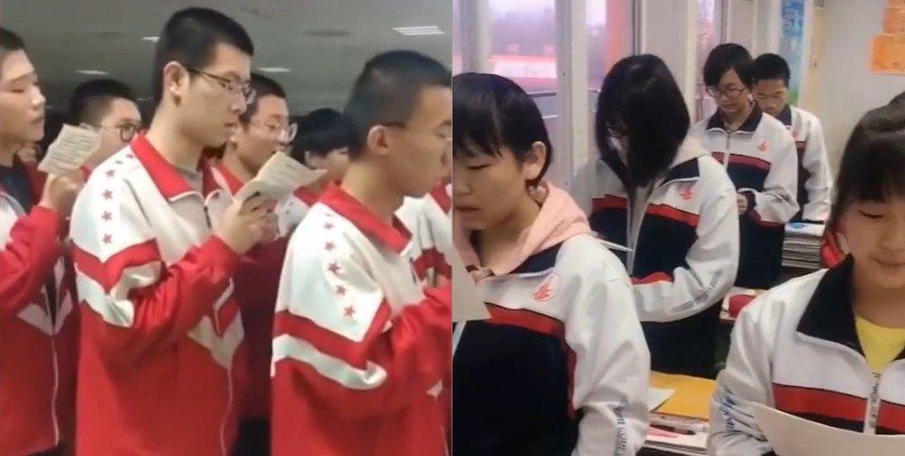 Alunos acordam a 5h e não tem tempo nem para comer em escola da China!