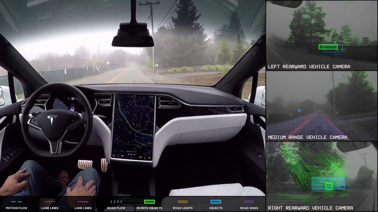 Conheça o Tesla Autopilot 2.0: O Projeto do carro AUTÔNOMO (dirige sozinho). Detalhe, a TESLA já o experimentava em 2016