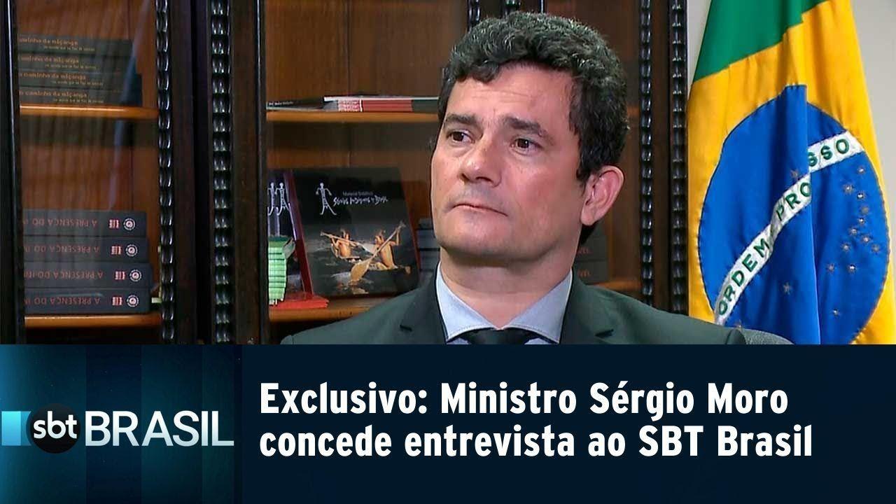 Exclusivo: Ministro Sérgio Moro concede entrevista ao SBT Brasil e fala sobre Projeto Anticrime
