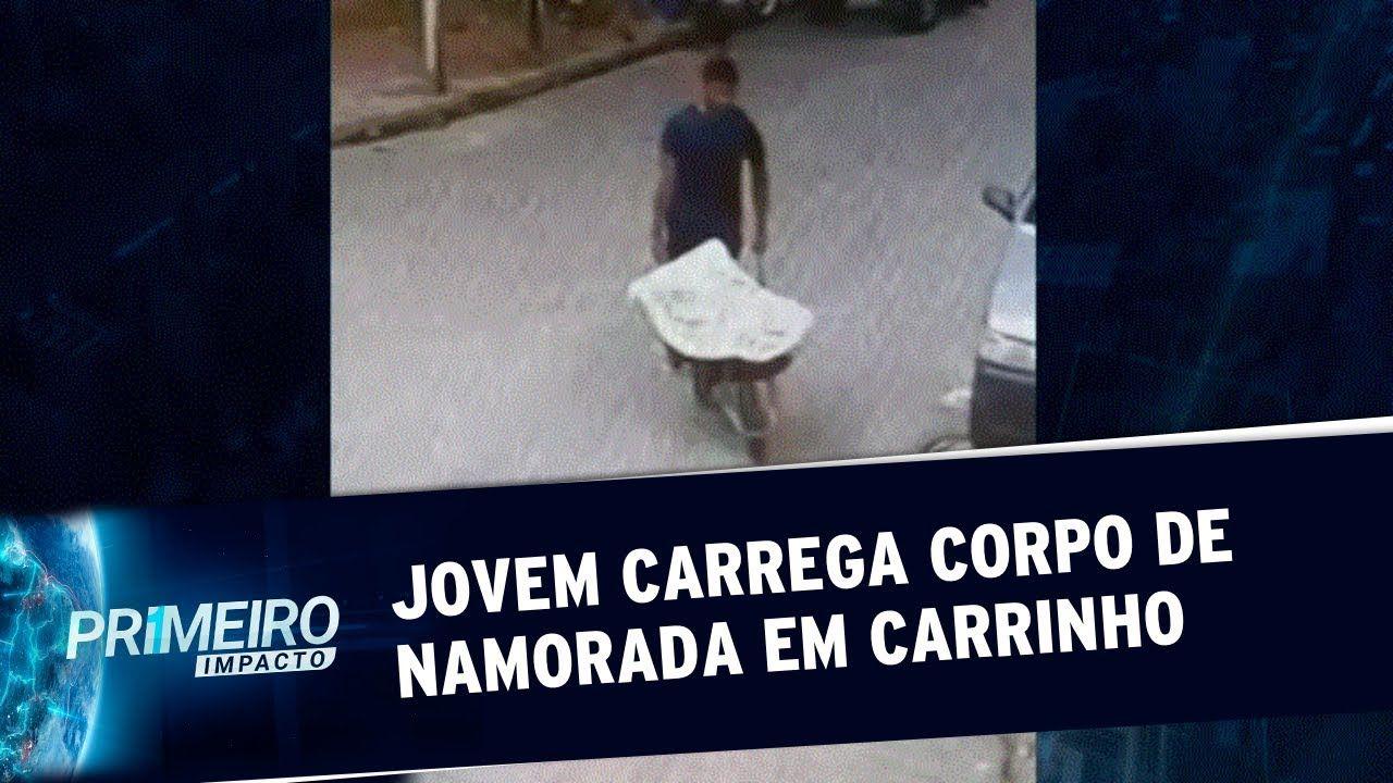 Homem é preso ao ser visto carregando corpo de namorada em carrinho de mão