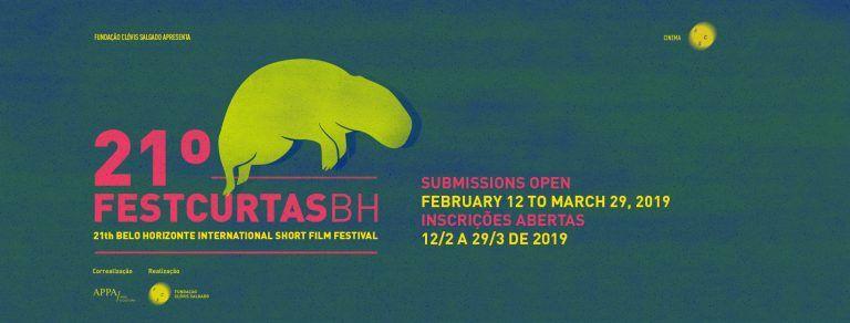 Inscrições para o 21º Festcurtas BH podem ser realizadas até 29 de março. Filmes de até 40min para amostra que ocorrerá em Agosto/19