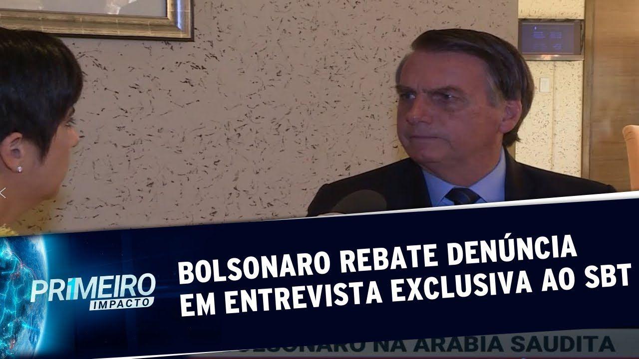 Jair Bolsonaro rebate denúncia em entrevista exclusiva ao SBT