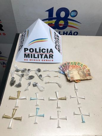 Militares em Contagem atuam em vários bairros: Drogas, dinheiro, pinos e até uma garrucha apreendida. (Novo Progresso, Milanez, Nascentes, Campo Alto...)