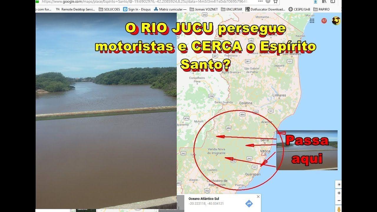 O mistério do RIO JUCU! Você passa por ele SETE VEZES ao sair do ES na BR 262 - Vitória-BH