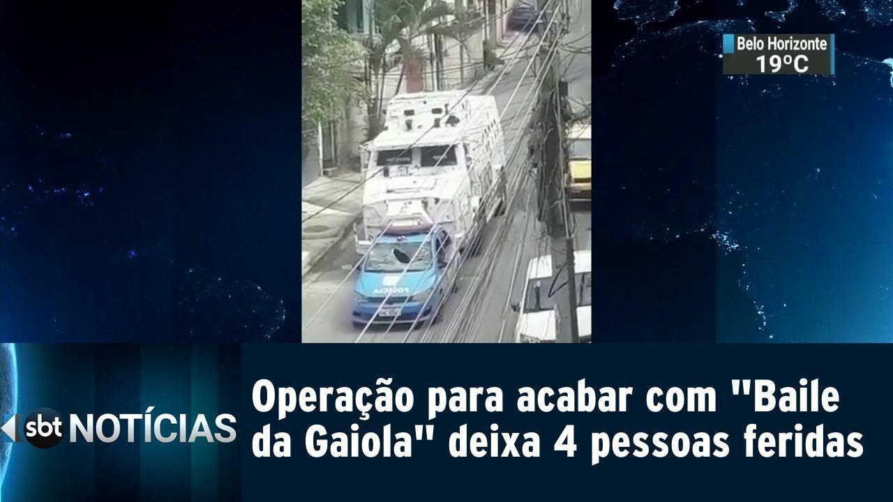 Operação para acabar com ´Baile da Gaiola´ deixa 4 pessoas feridas