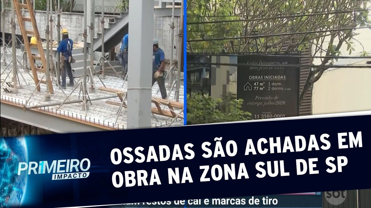 Ossadas humanas são encontradas em obra na zona sul de São Paulo - SBT