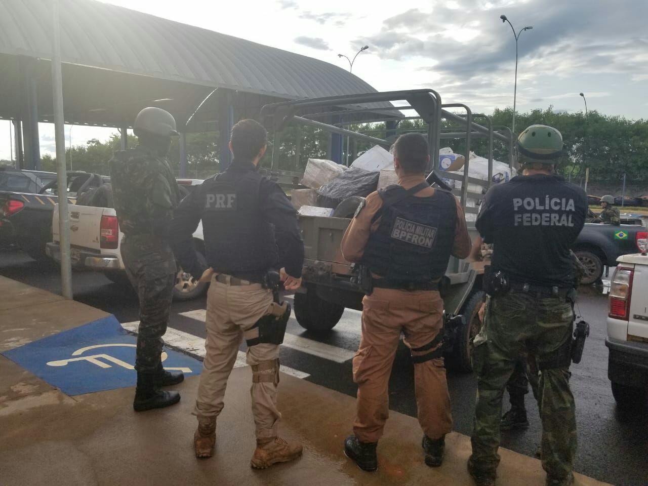 PRF segue caminhonete! Indígenas atacam a tiros mas encondia cigarros, pneus e agrotóxicos contrabandeados na aldeia de Terra Roxa