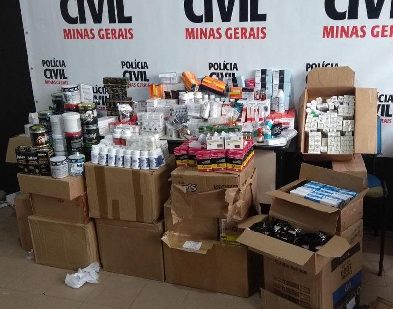 Receitas, carimbos, remédios para emagrecer: Polícia Civil prende fornecedor de anabolizantes em Juiz de Fora/MG