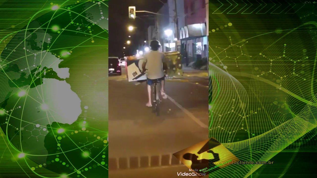 Roubou a GELADEIRA BIBLIOTECA de Bicicleta! Em Frutal/MG população desconfia que o ´olho vivo´ da cidade não funciona.