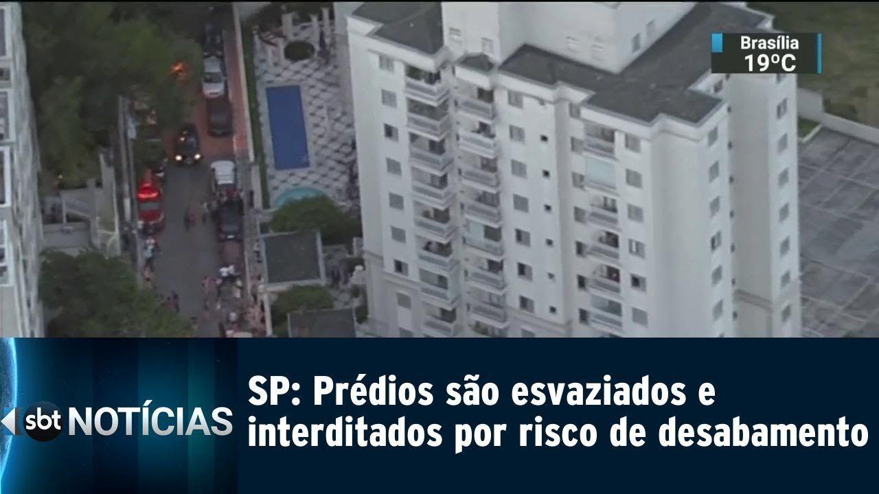 Moradores correm de madrugada: Dois Prédios correm o risco de desabar em São Paulo - SBT