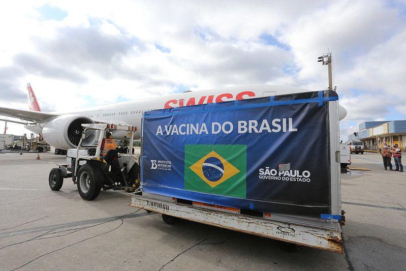 VACINA: São Paulo recebe 10,8 milhões de doses, e o estado informa que tem estoque para iniciar vacinação
