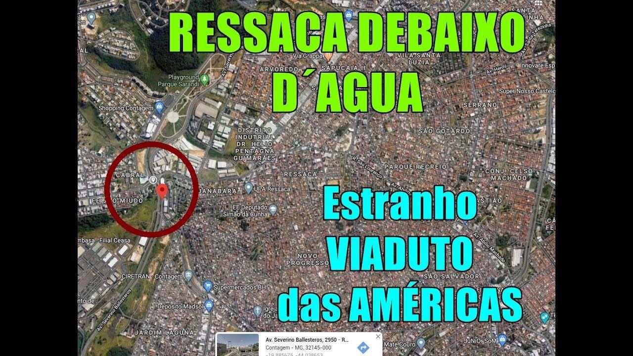 VIADUTO das Américas (DUDU) já inundado em 10 minutos. Vamos debaixo d´água da região do RESSACA para Avenida Abílio Machado