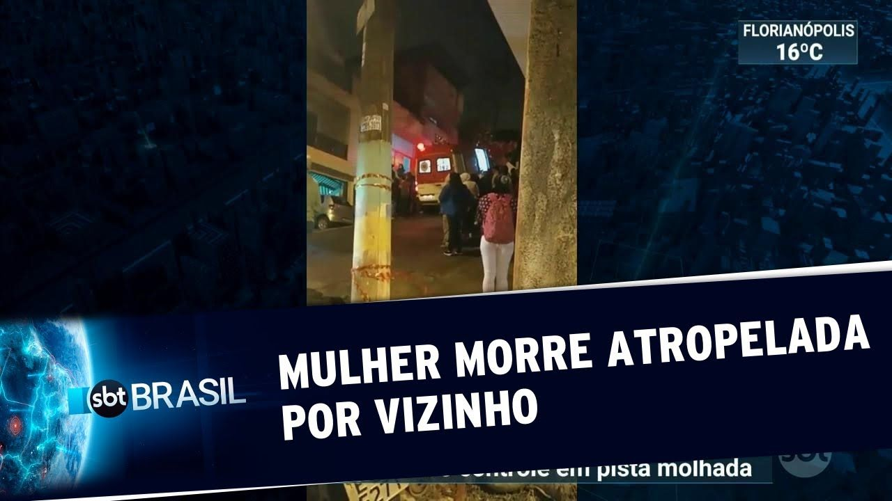 Vizinho atropela e prensa jovem no próprio portão da casa dela em São Bernardo do Campo/SP