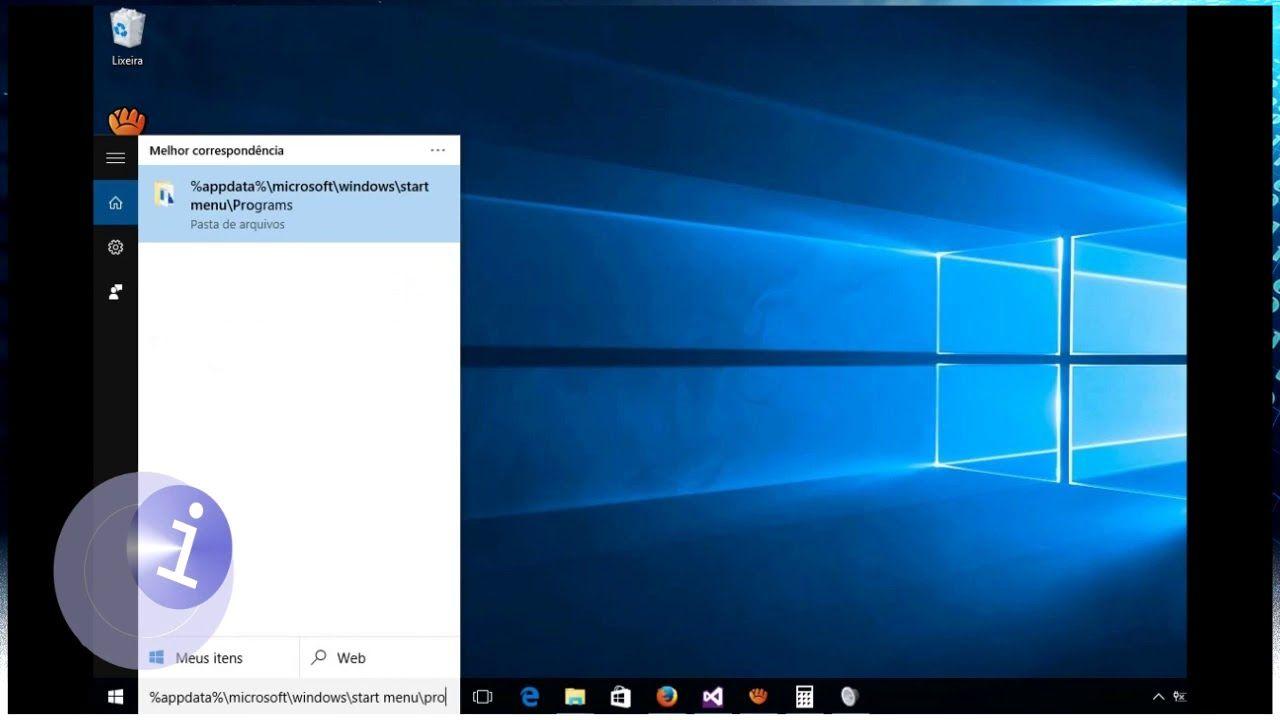 Windows 10 colocar programas para inicializar automaticamente / Verificar aplicativo PESANDO na inicialização?